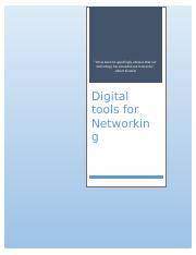 digital tools for networking.docx