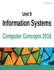 Chapter 9 - Information Systems