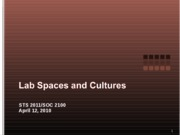 Lab Spaces and Cultures 041210