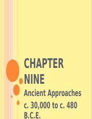 Ch 9 Ancient Approaches