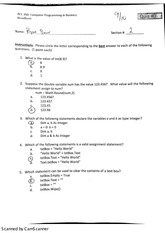 acc 260 variables quiz