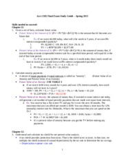 Acct Final Study Guide