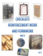B) Checklist Booklet 75 II R1 Reinforcement work _ Formwork