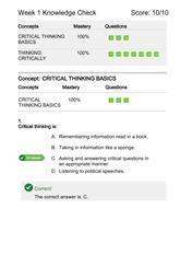 University of phoenix critical thinking course