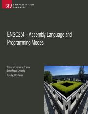 Ensc254-AssemblyLanguage_and_Programming_Modes.pdf