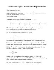 Fourier Analysis_ Proofs and Explanations.docx