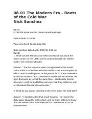 08.01 The Modern Era - Roots of the Cold War .docx