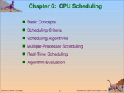 Chapter 6 - CPU Scheduling