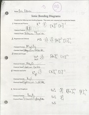 CHEM- Ionic Bonding worksheet