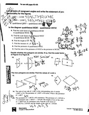 Homework On Scale Factors & Congruent Angles