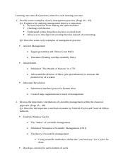Management Test 2 Notes