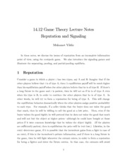 MIT Game Theory Notes on Lecture 11