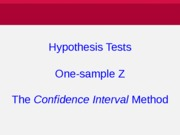 5_Z Hyp Test Confidence Interval Method [mu and p]