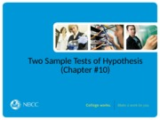 29-Two Sample Tests of Hypothesis