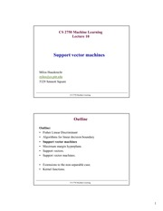 Lecture Notes on Support Vector Machines