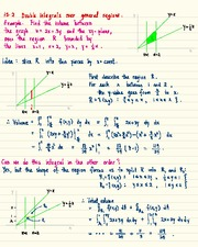 MATH 1823 Double Integrals Over General Regions Notes