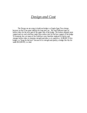 Design and Cost