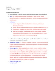 Exam Review - Collecting data and Objectives