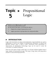 13160008Topic5PropositionalLogic