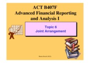 B407 Topic 6 Joint arrangement 2012