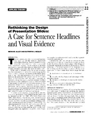22 - A Case for Sentence Headlines and Visual Evidence