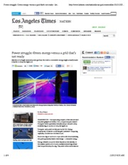 Power struggle Green energy versus a grid thats not ready - latimes.com