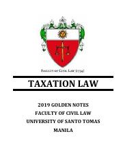 2019-Golden Notes-Taxation Law.pdf