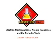 L17 Electron Configurations- Atomic Properties