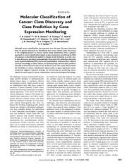 Golub et al._1999_Molecular classification of cancer class discovery and class prediction by gene ex