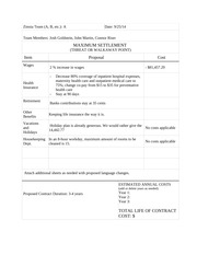 Corporate Proposal Worksheets