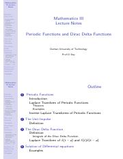 5 Periodic Functions and Dirac Delta functions - Notes.pdf