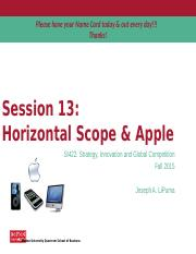 Lecture 13 - Horizontal Scope (Apple in 2012 Case).pptx
