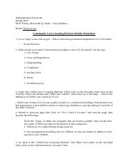Community Care Licensing Division Website Worksheet