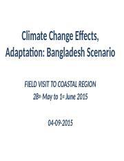04.09.2015 Climate Effect and Adaptation