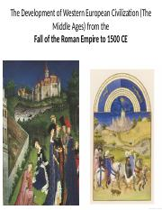 Ch 10 - Medieval Europe