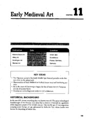 Chapter 11 Early Medieval Art AP Study Guide
