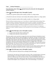 Exam # 1 essay questions.docx