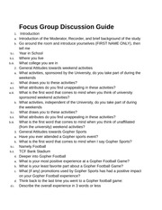Consulting Project Stage 1 Focus Group Discussion Guide