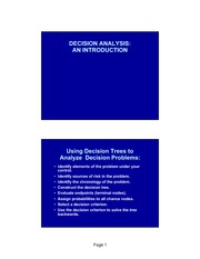 Decision Analysis (2)
