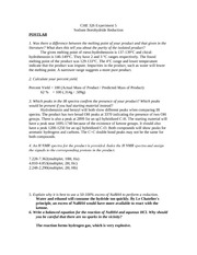 lab report 1 che 101 Lab report template for labs 3 and 4(1) lab: che 201 - organic chemistry from university at buffalo, the state university of new york.