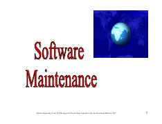 Chapter 9 Software Maintenance
