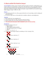 Lecture Notes on Black and Red Tile Model for Integers
