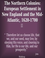 HIST2301, Colonial New England and Mid-Atlantic (2015 version)