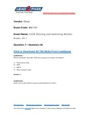 400-101 Exam Dump Free Updation Availabe In Lead2pass (1-20).pdf