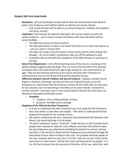 Mid-Term Essay Study Guide