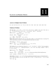 Chapter 11 Homework Solution on Physics II without Calculus II