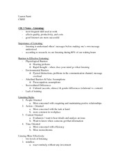 CH. 3 CMST notes