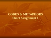 Codes and Metaphors