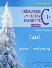 CSC 511 - 01 - CHAPTER 7 - ADDITIONAL CONTROL STRUCTURES