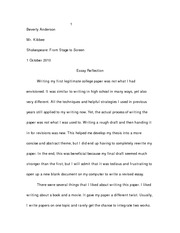 fsw essay 1 reflection